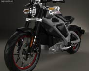 3D model of Harley-Davidson LiveWire 2014