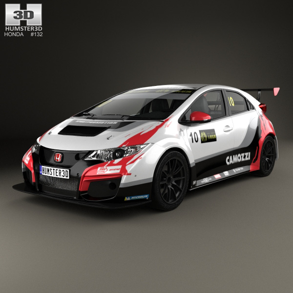 honda civic type r tcr 2015 3d model humster3d. Black Bedroom Furniture Sets. Home Design Ideas