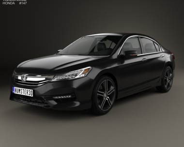 3D model of Honda Accord Touring 2016
