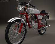 3D model of Honda CB50V Dream 50 1997