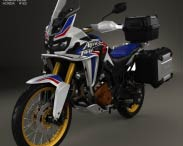 3D model of Honda CRF1000L Africa Twin 2016