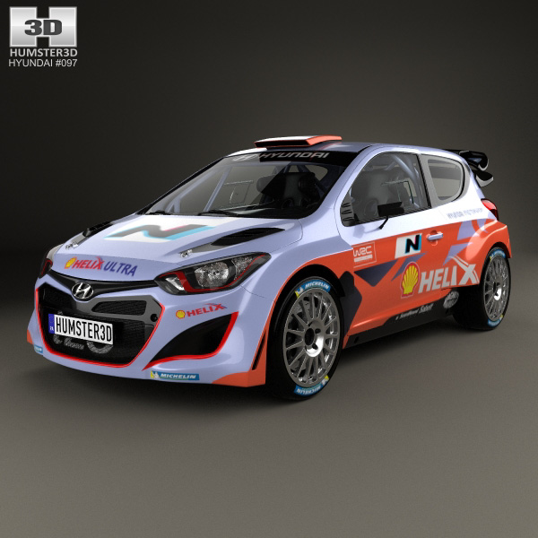 3D model of Hyundai i20 WRC with HQ interior 2012