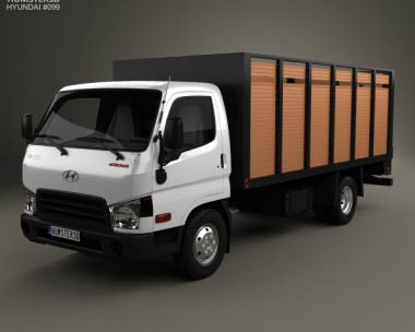 3D model of Hyundai HD65 Flatbed Truck 2012