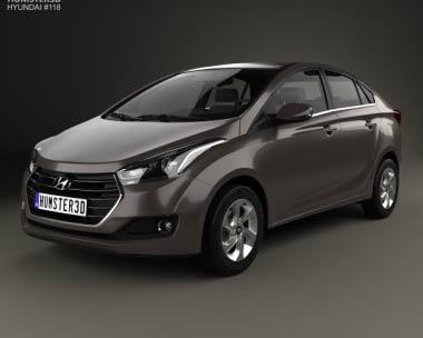 3D model of Hyundai HB20S 2015