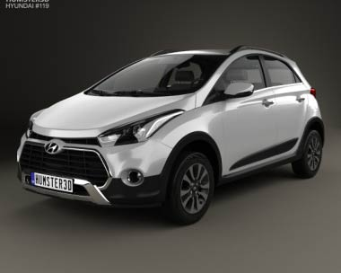 3D model of Hyundai HB20X 2015