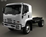 3D model of Isuzu FSS 550 Single Cab Chassis Truck 2015