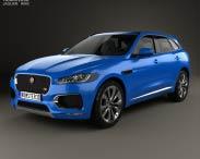 3D model of Jaguar F-Pace S 2017