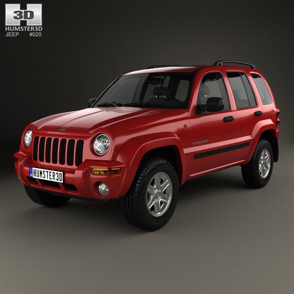 jeep cherokee kj 2002 3d model humster3d. Black Bedroom Furniture Sets. Home Design Ideas