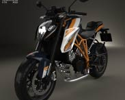 3D model of KTM 1290 Super Duke R 2015
