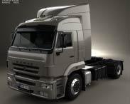 3D model of KamAZ 5460 Tractor Truck 2010