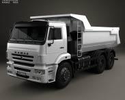 3D model of Kamaz 6520 Tipper Truck 2009