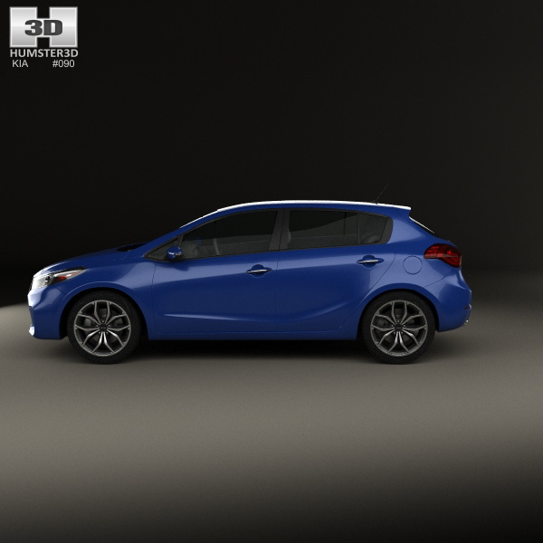 kia forte 5 door hatchback 2017 3d model humster3d. Black Bedroom Furniture Sets. Home Design Ideas