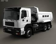 3D model of KrAZ C26.2M Tipper Truck 2013