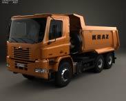 3D model of KrAZ C20.2 Dumper Truck 2011