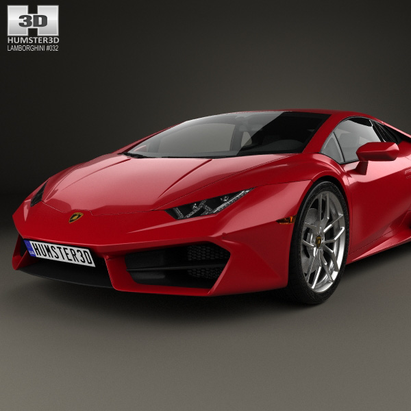 lamborghini huracan lp 580 2 2015 3d model humster3d. Black Bedroom Furniture Sets. Home Design Ideas