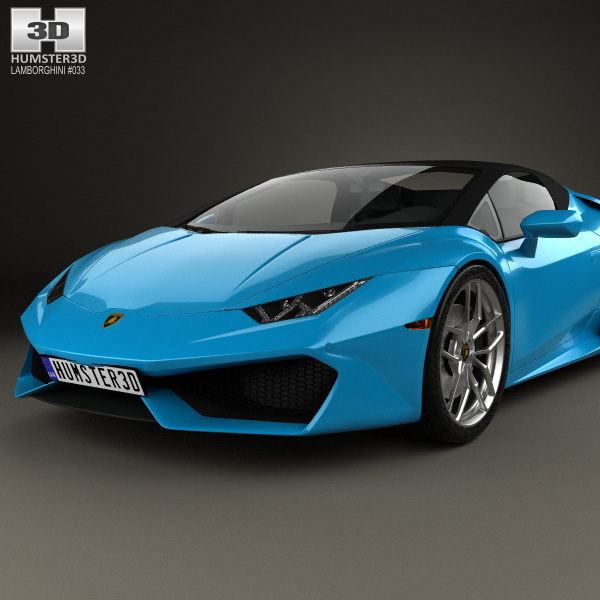 lamborghini huracan lp 610 4 spyder 2015 3d model humster3d. Black Bedroom Furniture Sets. Home Design Ideas