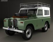 3D model of Land Rover Series IIA 88 Pickup 1968