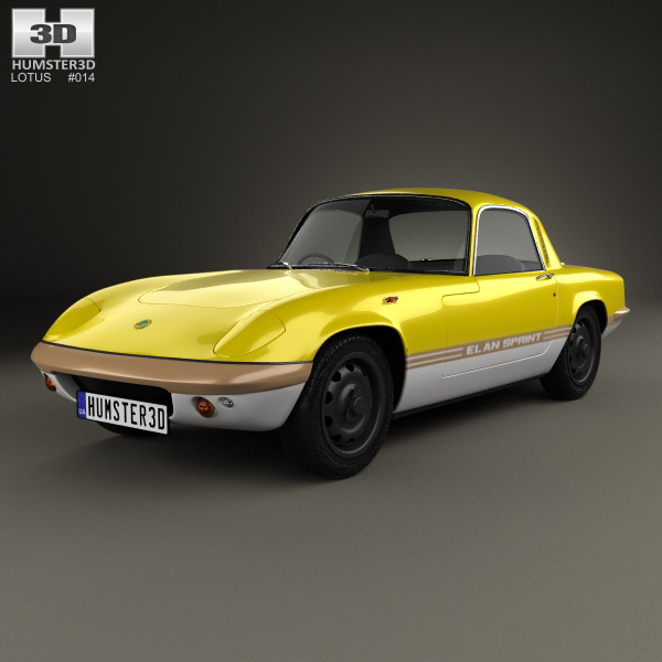 3D model of Lotus Elan Sprint Fixed-head Coupe 1971