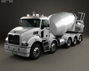 3D model of Mack Metro-Liner Concrete Agitator Truck 2007