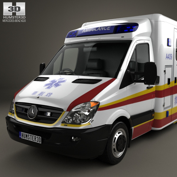 Mercedes benz sprinter w906 ambulance 2011 3d model for 2011 mercedes benz sprinter reviews