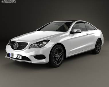 3D model of Mercedes-Benz E-Class Coupe 2014