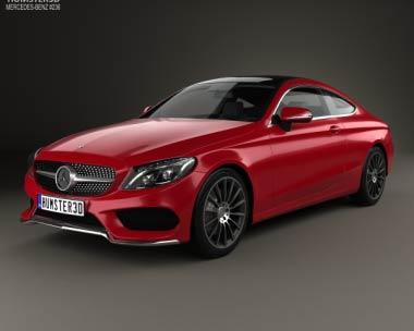 3D model of Mercedes-Benz C-Сlass AMG Line Coupe 2015