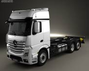 3D model of Mercedes-Benz Actros Chassis Truck 3-axle 2011