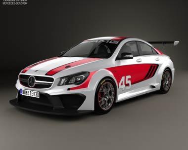 3D model of Mercedes-Benz CLA-Class (C117) AMG Racing 2014