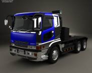 3D model of Mitsubishi Fuso Super Great (FP) Tractor Truck 1996