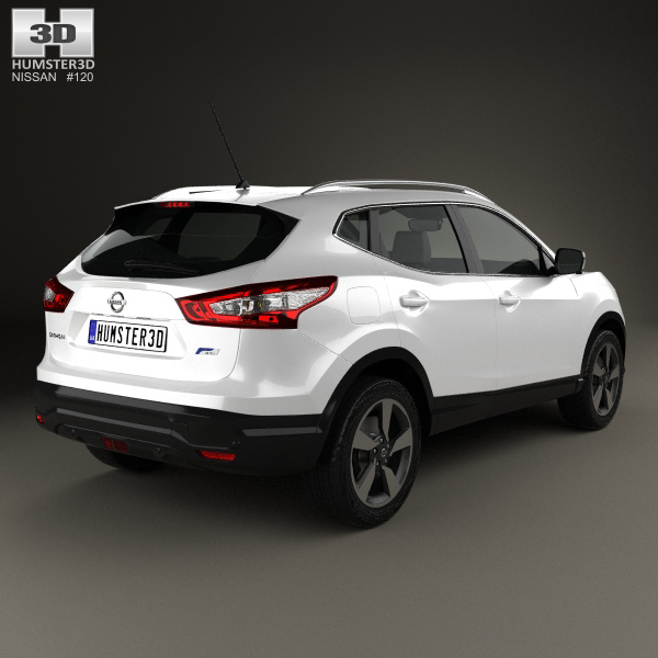 nissan qashqai 2016 3d model humster3d. Black Bedroom Furniture Sets. Home Design Ideas