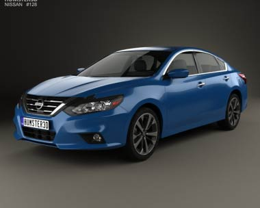 3D model of Nissan Altima SR 2015