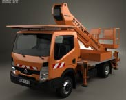 3D model of Nissan Cabstar Lift Platform Truck 2006