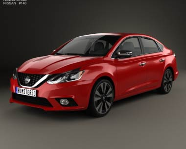 3D model of Nissan Sentra SL 2016