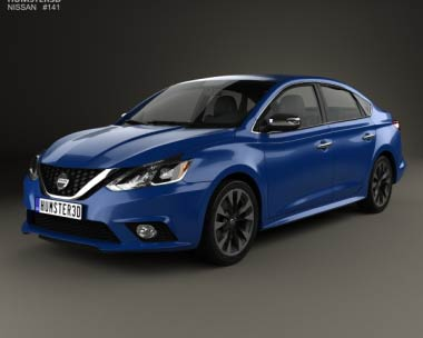 3D model of Nissan Sentra SR 2016