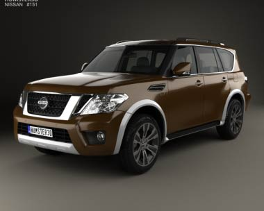 3D model of Nissan Armada 2017