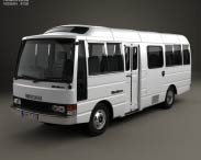 3D model of Nissan Civilian SWB Bus 1982