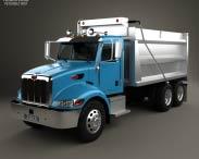3D model of Peterbilt 348 Dump Truck 2006