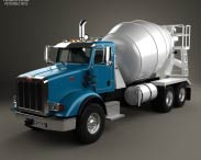 3D model of Peterbilt 365 Mixer Truck 2007
