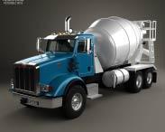 3D model of Peterbilt 365 Mixer Truck 2007