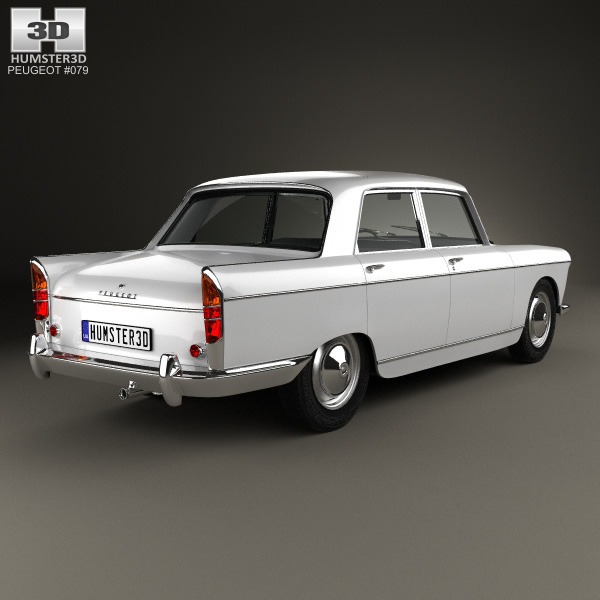 peugeot 404 berline 1960 3d model humster3d. Black Bedroom Furniture Sets. Home Design Ideas