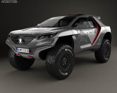 3D model of Peugeot 2008 DKR 2014