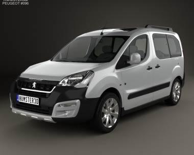 3D model of Peugeot Partner Tepee Outdoor 2015