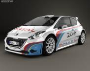 3D model of Peugeot 208 R5 2013