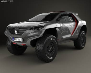 3D model of Peugeot 2008 DKR with HQ interior 2014