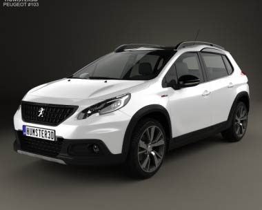 3D model of Peugeot 2008 GT Line 2017