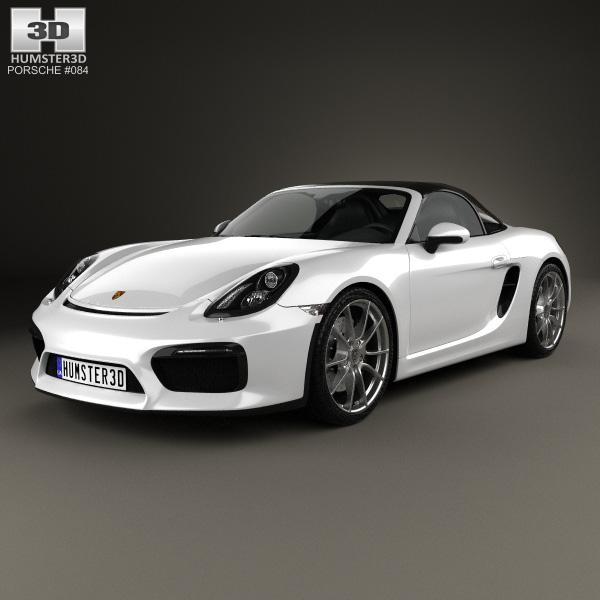 3D model of Porsche Boxster 981 Spyder 2016