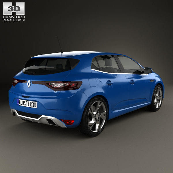 renault megane gt 2016 3d model humster3d. Black Bedroom Furniture Sets. Home Design Ideas