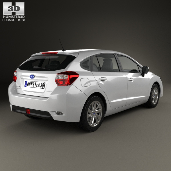 subaru impreza hatchback 2015 3d model humster3d. Black Bedroom Furniture Sets. Home Design Ideas