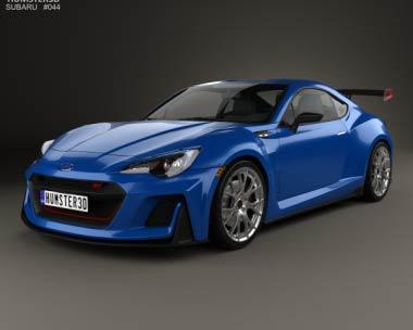 3D model of Subaru BRZ STI Performance concept 2015