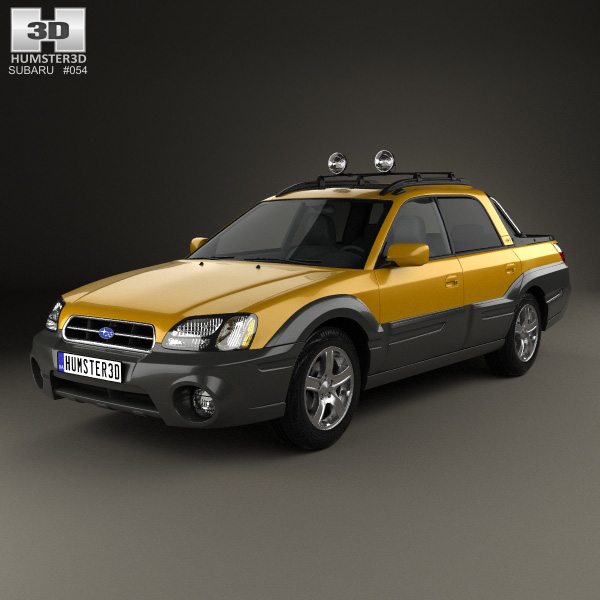 subaru baja 2002 3d model humster3d. Black Bedroom Furniture Sets. Home Design Ideas